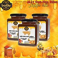 Mật ong hoa rừng Tây Nguyên, 100% nguyên chất combo 3 hũ_500ml hũ, bestke thumbnail