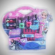 Bộ đồ chơi phụ kiện set trang điểm, make up thật phong cách búp bê Nữ hoàng băng giá Fzoren Elsa (màu sắc ngãu nhiên) thumbnail
