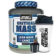 Critical Mass vị Socola mâm xôi Applied Nutrition 2,4kg và bình lắc thumbnail