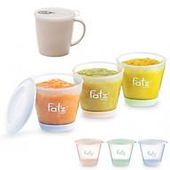 Bộ 3 hộp trữ đồ ăn dặm 150ml fatzbaby kèm cốc uống nước sữa có nắp 300ml thumbnail