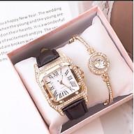 Đồng hồ nữ (Tặng lắc tay và dây chuyền đeo cổ ) thumbnail