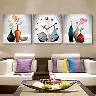 Tranh treo tường, tranh đồng hồ Nt115 bộ 3 tấm ghép thumbnail