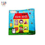 Sách vải Lalala baby, kích thích đa giác quan chủ đề Hình khối, kích thước 15x15cm 12 trang thumbnail