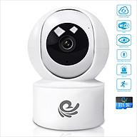 Camera Wifi Xoay 360 Độ 2.0Mpx 1920 1080P FULL HD Có Tích Hợp Đèn Hồng Ngoại Quan Sát Ban Đêm, Kèm Thẻ 32Gb - Chính Hãng thumbnail