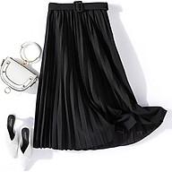 Chân váy xếp ly dáng dài có đai chất liệu cao cấp không nhăn mẫu mới Free size(VAY36) thumbnail
