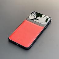 Ốp lưng da kính cao cấp dành cho iPhone X iPhone XS - Màu đỏ - Hàng nhập khẩu - DELICATE thumbnail