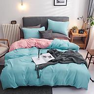 Bộ ga giường nhập khẩu pollycotton xanh ngọc thumbnail