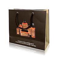 Túi giấy đựng mỹ phẩm quà tặng cao cấp (Màu nâu đen) 20x22x8cm set 50 cái thumbnail