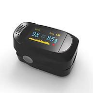 Máy đo huyết áp dạng kẹp ngón tay hỗ trợ đo nồng độ oxi trong máu, nhịp tim thông minh hiển thị màn hình LED cao cấp thumbnail