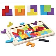 Đồ chơi xếp gạch bằng gỗ nhiều màu độc đáo thumbnail
