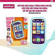 Đồ chơi điện thoại thông minh cho bé, hiệu ứng âm thanh vui nhộn, có thể ghi âm Winfun 0740 - Hàng chính hãng thumbnail