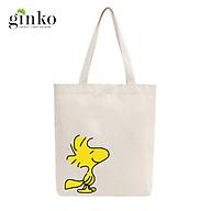 Túi Tote Vải Mộc GINKO Dây Kéo In Hình Woodstock Snoopy M21 thumbnail
