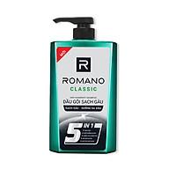Combo Dầu gội sạch gàu cho nam Romano Classic 650gr & xịt khử mùi toàn thân Classic 150ml thumbnail