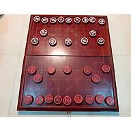 Bộ bàn cờ tướng gỗ 43x46 và quân gỗ nhãn 3,5cm thumbnail