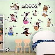 Decal dán tường cho bé hình những chú chó đáng yêu thumbnail