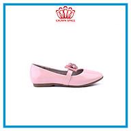Giày Búp Bê Bé Gái Đi Học Đi Chơi Crown Space UK Ballerina Trẻ Em Cao Cấp CRUK3122 Màu Hồng Be Đen Êm thoáng Size 30-36 6-14 Tuổi thumbnail