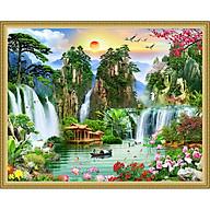 Decal trang trí tường phong thủy Sơn Thủy Hữu Tình Tam Dương Khai Thái NewTM-0153 thumbnail