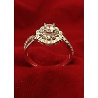 Nhẫn nữ Bạc Quang Thản, nhẫn bạc nữ ổ cao gắn đá kim cương nhân tạo 4ly chất liệu bạc thật không xi mạ, phong cách trẻ trung thích hợp đeo tại các buối dạ tiệc, sinh nhật, làm quà tặng QTNU40 thumbnail
