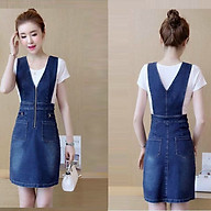 Đầm Jean Yếm Cutout Eo Phối Dây Kéo - TP1957 thumbnail