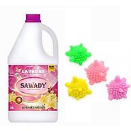 Nước giặt xả 6 in 1 Sawady Thái Lan 3,8L - Tặng 3 bóng giặt mini sinh học thumbnail