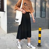 chân váy dập ly Vintage dáng dài đơn giản cho bạn nữ thumbnail