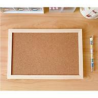Bảng ghim gỗ bần khung gỗ tặng kèm ghim+dây treo+móc treo+ sticker thumbnail