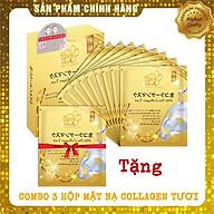 Combo 9 Túi Mặt Nạ Collagen Tươi dưỡng da Nhật Bản chống lão hóa, trắng sáng da và giúp da mềm mịn săn chắc - Tặng 1 Túi Mặt Nạ Collagen thumbnail