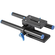 15mm Rod Rail Rig Support System Baseplate for Follow Focus Matte Box -A10 thumbnail