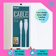 Dây cáp sạc nhanh 5A hàng chính hãng Winlink 32 đuôi USB - TYPE C thumbnail