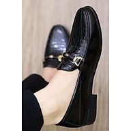 Giày Lười Nam Da Bóng Giá Rẻ - Đế Cao 3cm - Mã L157 Màu Đen - Hàng VN thumbnail