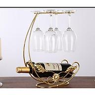 Kệ rượu vang kèm giá treo ly tiện lợi thumbnail