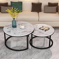 Cặp bàn trà tròn Osta măt đá thumbnail