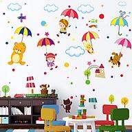 Decal dán tường động vật che ô cho bé ZOOYOO XL8217 thumbnail