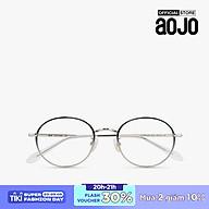 aojo - Gọng kính kim loại phom tròn thời trang AJ105FE269-BLC1 thumbnail