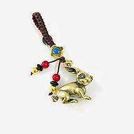 Móc Khóa Tượng Đồng Con Thỏ có kích thước 2.5 x 1.4 x 2.8cm, màu đồng dùng để làm móc khóa, trưng trên bàn, làm quà tặng lưu niệm - TMT Collection - SP005217 thumbnail