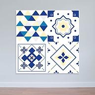 Decal hoa văn xanh trắng Decal họa tiết dán tường WD161 thumbnail