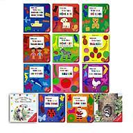 Sách - Combo Ehon tương tác giấy bồi cho trẻ 0-3 tuổi (13 cuốn) thumbnail