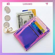 Ví nữ cao cấp cầm tay mini EYES IN LOVE thời trang nhỏ gọn nhiều ngăn đẹp giá rẻ LUKAMO VD425 thumbnail