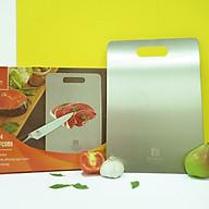 Thớt inox cao cấp 304- size 33,5x23cm , kháng khuẩn, chống ẩm mốc, thớt nhà bếp Fc - Hàng Việt Nam sản xuất thumbnail