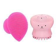 [ COMBO 2] Dụng Cụ Rửa Mặt và Massage Mặt Silicon Mềm Dẻo HT SYS Facial Cleansing Fad-(Hình Trái Tim+ Bạch Tuộc) thumbnail