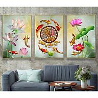 Decal trang trí tường bộ 3 cá Koi Cửu ngư quần hội Tipo_0262 thumbnail