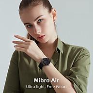 đồng hồ thông minh xiaomi Mibro Air XPAW001 Kết nối Bluetooth 5.0 theo dõi sức khỏe chống nước IP68 hỗ trợ Android iOS hỗ trợ nhiều ngôn ngữ thumbnail