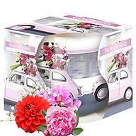 Ly nến thơm tinh dầu Bispol Flower Mail 100g QT04320 - lan, hồng, thược dược thumbnail
