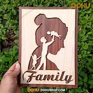Tranh Treo Tường Gỗ Handmade DOHU001 Family - Thiết Kế Đơn Giản, Độc Lạ, Sang Trọng thumbnail