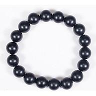 Vòng tay phong thủy đá obsidian nhám mệnh thủy ,mộc - Ngọc Quý Gemstones thumbnail