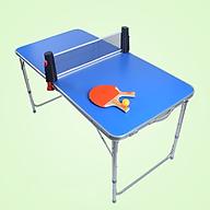 Bàn chơi bóng bàn mini chất liệu nhôm cao cấp 120 x 60cm HÀNG CHÍNH HÃNG thumbnail