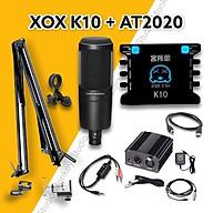 Bộ Mic Hát Livestream Soundcard XOX K10 & Mic AT2020 Chất Lượng Cao, Âm Thanh Cực Kỳ Sống Động - Hàng Chính Hãng thumbnail