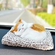 Mô Hình Mèo Nằm Ngủ Đệm Than Hoạt Tính thumbnail