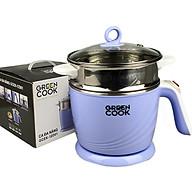 Ca Nấu Đa Năng 1.2L Inox 304 Green Cook Công Suất 600W Nấu Mì Nấu Lẩu,Đun Nước Kèm Vỉ Hấp -Hàng Nhập Khẩu thumbnail