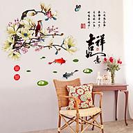 Decal dán tường trang trí Tết chào xuân- Hoa đại trắng- mã sp DXL8231 thumbnail